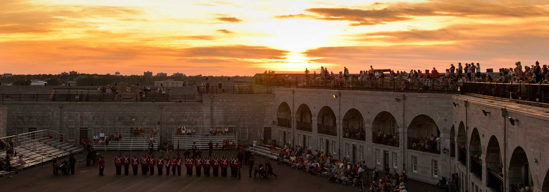 Military ceremony at Fort Henry